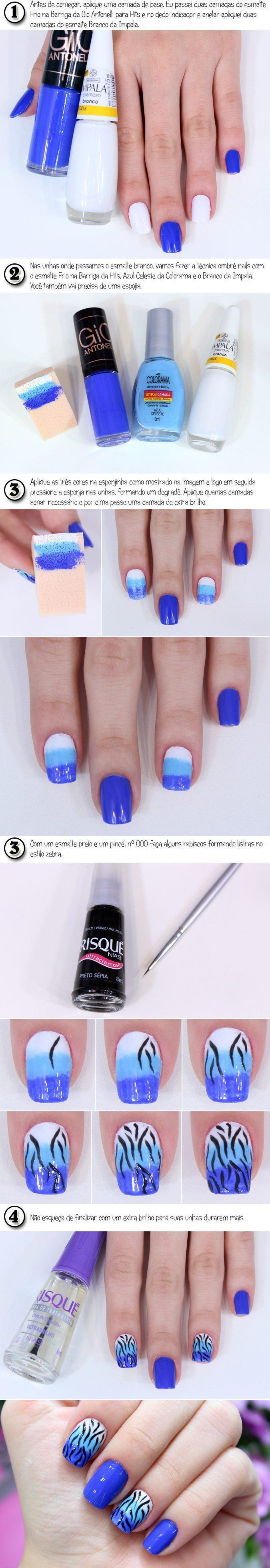 ombré nails com zebra copy