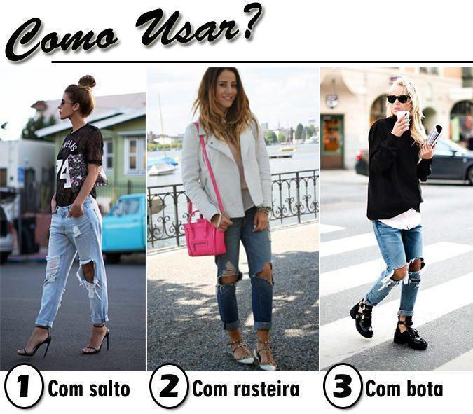 como usar jeans super destroyed
