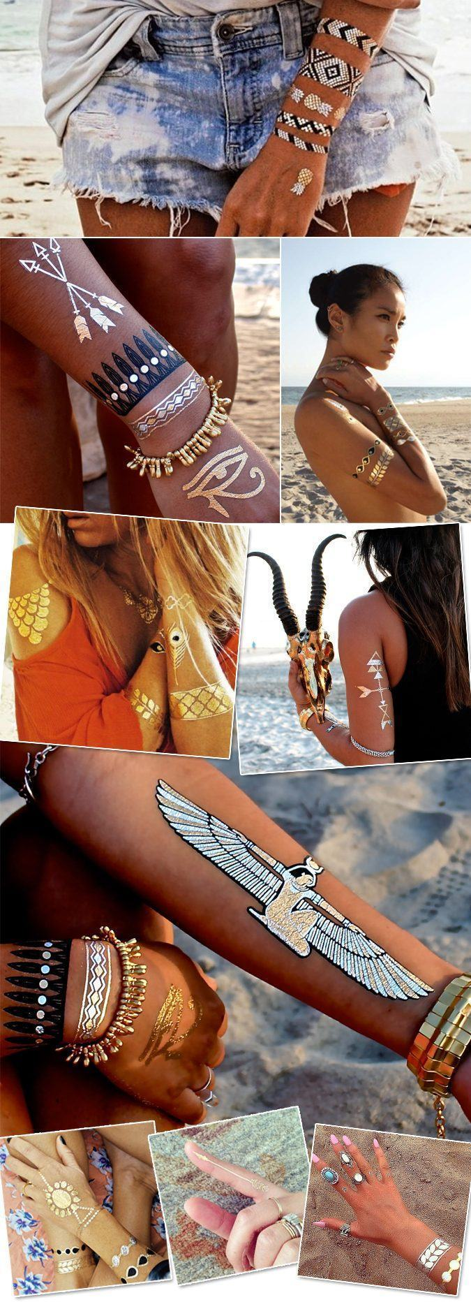 flash tattoo gold