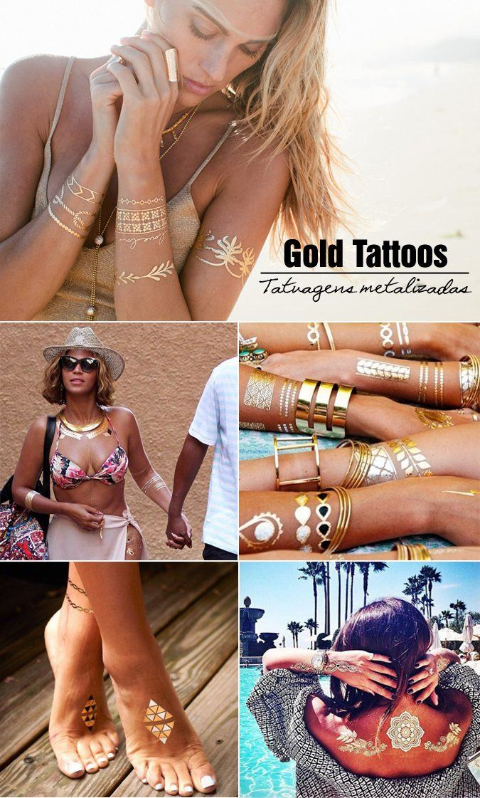 gold tattoos